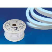 ULS-N21 220V Лента светодиодная Гибкий неон 8W 120Led 2835 IP67 односторонний белый, 50м
