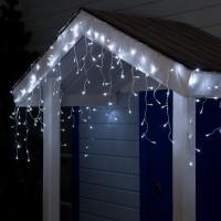 Гирлянда LED Бахрома 3*0,6м, прозрачная нить,белый мерцание, 3W, LED-160-220V уличная (4356982)