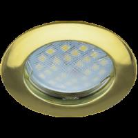 Светильник MR16 DL100 Экола GU5.3 встр. литой золото 24*75 (FG1601EFF)