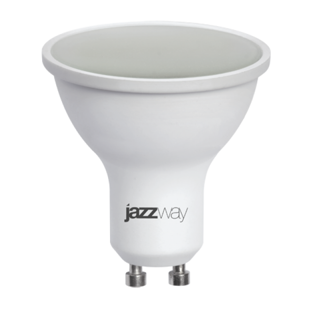 Лампа светодиод.PLED-GU10 7W 230V 3000К 520lm Jazzway, лампочка