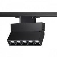 358325 PORT NT19 084 черный однофазный трековый светильник IP33 LED 4000K 13W 110-265V EOS