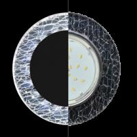 Светильник GX 53H4 LD5310 Gl Экола 38*126 круг с подсветкой хром-колотый лед на черном (SE53RNECH)