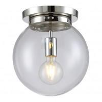 MARIO PL1 D250 NICKEL/TRANSPARENTE (CRYSTAL LUX) Светильник потолочный