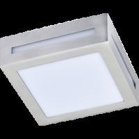 Свет-к 3082W 1*GX53 сатин-хром,квадрат мет.накладн.IP65 LED 136*136*55 Экола(FS53SSECH)