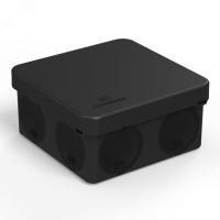 Коробка распред. д/быстр.монтажа 80х80х40 д/откр.уст. IP66 черная,безгалог.(HF)