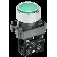 Кнопка LA167-BAF31 зеленая 1з IP67 ИЭК