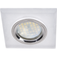 Светильник MR16 DL1651 GU5.3 Экола 25*90*90 стекло квадрат скош.край мат.хром (FN1651EFF)