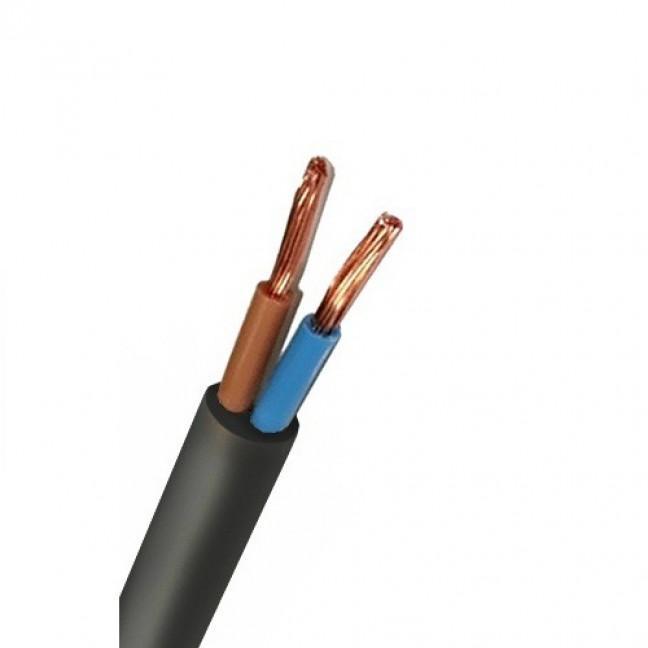 Провод ПВС 2х1.5 черный ПК