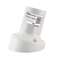 Патрон Е27 настенный, термостойкий пластик, наклонный, белый, TDM