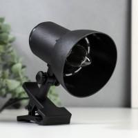 НТО-34В(черный,настольный светильник на прищепке,60Вт,цоколь Е27)