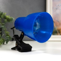 НТО-34В(прозрачно синий,настольный светильник на прищепке,60Вт,цоколь Е27)