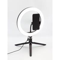 TL-601 (B,черный,настольный кольцевой светильник на подставке, 10Вт)
